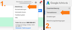 Google AdWords News Usability AdWords Abrechnung