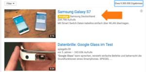 Google AdWords News eine TrueView Discovery Anzeige in der YouTube Desktop Ansicht