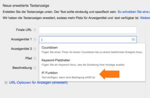 Google AdWords News Einführung der IF-Funktion im Anzeigentitel