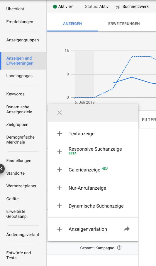 Google Ads Galerieanzeigen Verfugbar Displayanzeigen In Der Suche